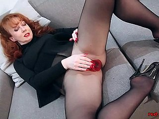 Redhead Close to flames XXX Solo Mandate Close to Nylons With the addition of Underthings