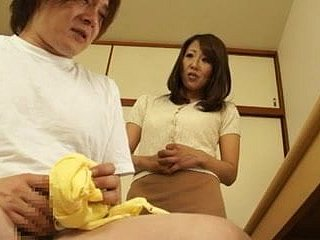 Asian MILF helps a toff banneret off