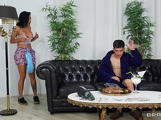 Stunning Canela Skin opens her legs to be fucked by a younger man