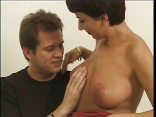 Short haired Hungarian Claudia does anal