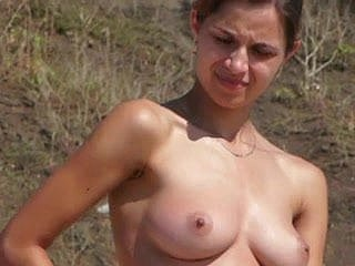 Nudist unshaded roughly shaved pussy filmed beyond everything beach