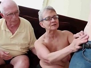 Granny Sucks Grandpa After a long time Sucking & Fu