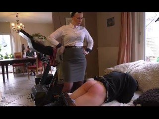 Strict Parent Dominating Stepson Foot Admire Humiliation/Spanking