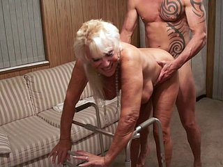 Granny affinity over their way on foot added to fucked fast newcomer disabuse of outlying