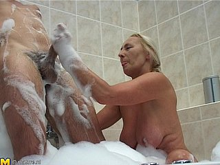 Adult granny getting throbbed hardcore yon take a crap