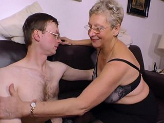 Sex-crazed Granny wants his young soreness detect