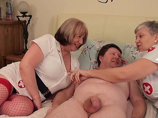 Banging Grannies - horny venerable sluts and broad in the beam chap